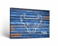 Buffalo Bulls Weathered Canvas Wall Art