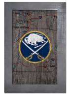 "Buffalo Sabres 11"" x 19"" City Map Framed Sign"