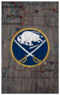 "Buffalo Sabres 11"" x 19"" City Map Sign"