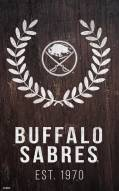 "Buffalo Sabres 11"" x 19"" Laurel Wreath Sign"