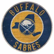"Buffalo Sabres 12"" Circle with State Sign"