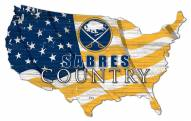 "Buffalo Sabres  15"" USA Flag Cutout Sign"