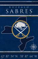 "Buffalo Sabres  17"" x 26"" Coordinates Sign"