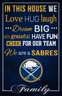 "Buffalo Sabres  17"" x 26"" In This House Sign"