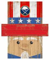 "Buffalo Sabres 19"" x 16"" Patriotic Head"