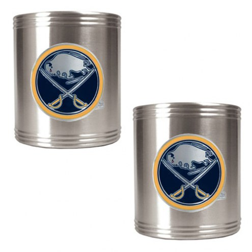 Buffalo Sabres 2-Piece Stainless Steel Can Koozie Set - Primary Logo