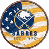"Buffalo Sabres  24"" Flag Barrel Top"