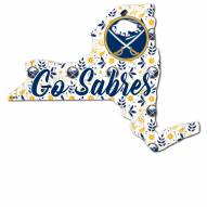 "Buffalo Sabres 24"" Floral State Sign"