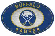 "Buffalo Sabres 46"" Heritage Logo Oval Sign"