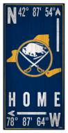 "Buffalo Sabres  6"" x 12"" Coordinates Sign"