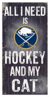 "Buffalo Sabres  6"" x 12"" Hockey & My Cat Sign"