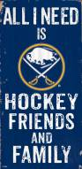 "Buffalo Sabres 6"" x 12"" Friends & Family Sign"