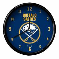 Buffalo Sabres Black Rim Clock