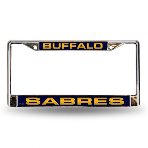 Buffalo Sabres Blue Laser Chrome License Plate Frame