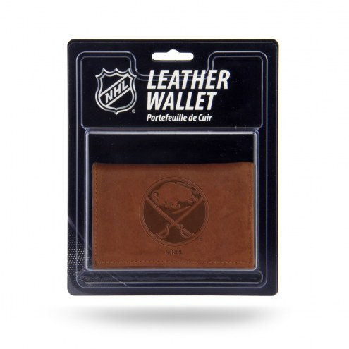 Buffalo Sabres Brown Leather Trifold Wallet