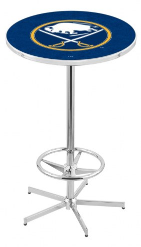 Buffalo Sabres Chrome Bar Table with Foot Ring
