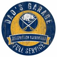 Buffalo Sabres Dad's Garage Sign