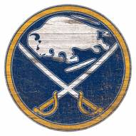 Buffalo Sabres Distressed Logo Cutout Sign