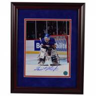 Buffalo Sabres Dominik Hasek Signed and Framed Dominator Goalie 8 x 10 Photo - Thick red cherry frame