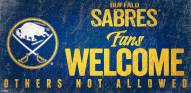 Buffalo Sabres Fans Welcome Sign