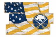 Buffalo Sabres  Flag 3 Plank Sign