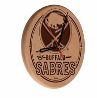 Buffalo Sabres Laser Engraved Wood Clock