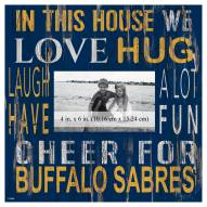 "Buffalo Sabres In This House 10"" x 10"" Picture Frame"