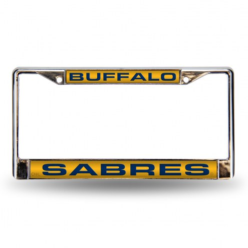Buffalo Sabres Laser Chrome License Plate Frame