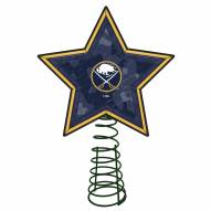 Buffalo Sabres Light Up Art Glass Mosaic Tree Topper