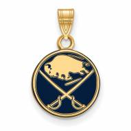 Buffalo Sabres Sterling Silver Gold Plated Small Pendant
