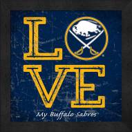 Buffalo Sabres Love My Team Color Wall Decor