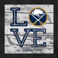 Buffalo Sabres Love My Team Square Wall Decor