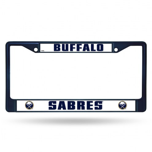 Buffalo Sabres Navy Colored Chrome License Plate Frame