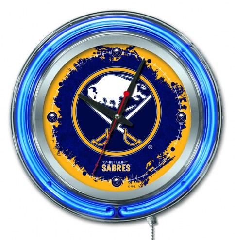 Buffalo Sabres Neon Clock