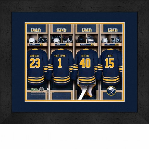 Buffalo Sabres Personalized Locker Room 13 x 16 Framed Photograph