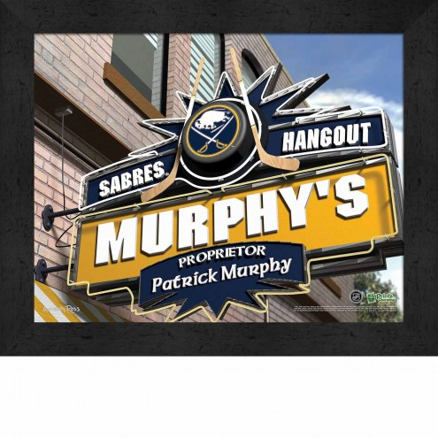 Buffalo Sabres 11 x 14 Personalized Framed Sports Pub Print