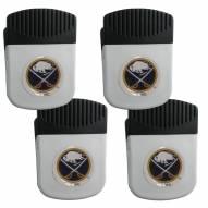 Buffalo Sabres 4 Pack Chip Clip Magnet with Bottle Opener