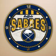 Buffalo Sabres Stained Glass Wall Clock