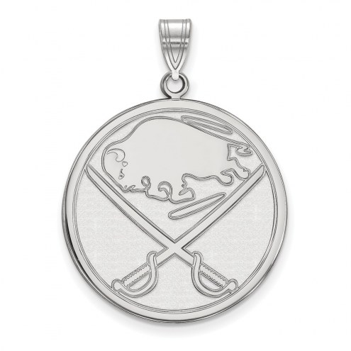 Buffalo Sabres Sterling Silver Extra Large Pendant