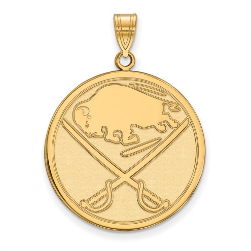Buffalo Sabres Sterling Silver Gold Plated Extra Large Pendant