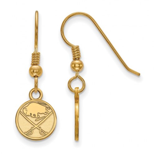 Buffalo Sabres Sterling Silver Gold Plated Extra Small Dangle Earrings