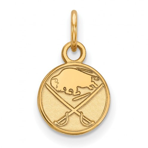 Buffalo Sabres Sterling Silver Gold Plated Extra Small Pendant