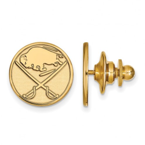 Buffalo Sabres Sterling Silver Gold Plated Lapel Pin