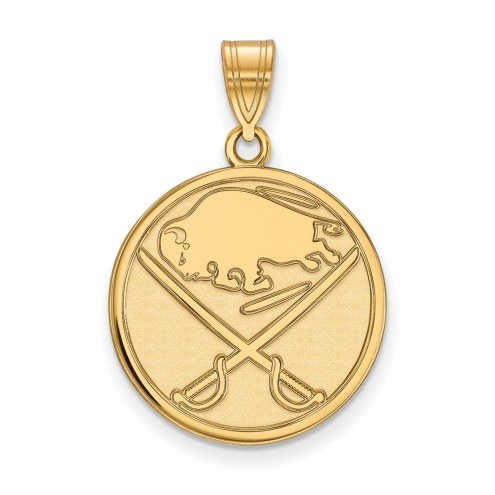 Buffalo Sabres Sterling Silver Gold Plated Large Pendant