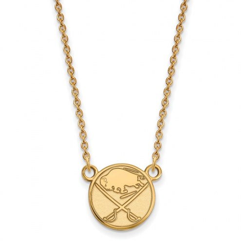 Buffalo Sabres Sterling Silver Gold Plated Small Pendant Necklace