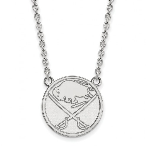 Buffalo Sabres Sterling Silver Large Pendant Necklace