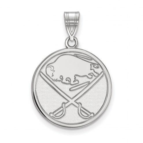 Buffalo Sabres Sterling Silver Large Pendant