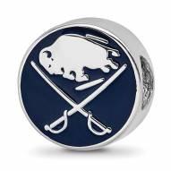 Buffalo Sabres Sterling Silver Logo Bead