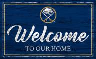 Buffalo Sabres Team Color Welcome Sign