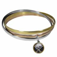 Buffalo Sabres Tri-color Bangle Bracelet